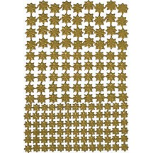Gold Classic Dresden Stars ~ 159 Assorted