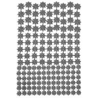 Silver Classic Dresden Stars ~ 159 Assorted