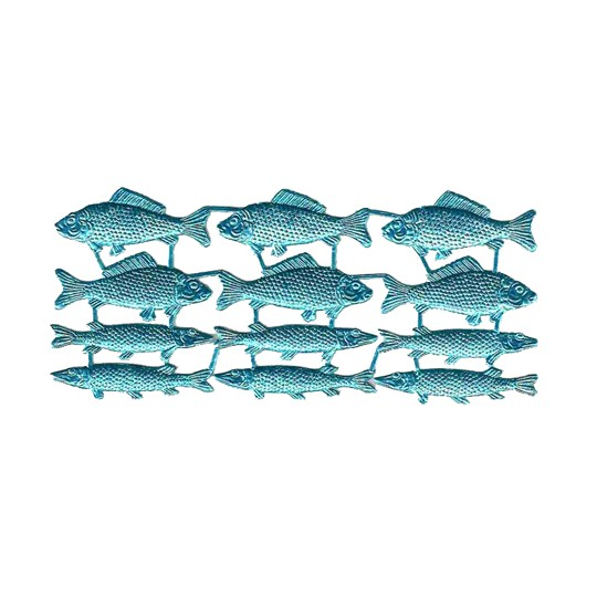 Blue Dresden Foil Fish ~ 12