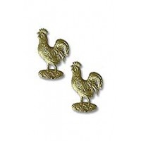 Gold Dresden Foil Roosters ~ 10