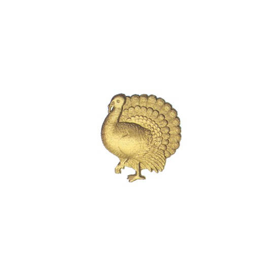 Gold Dresden Foil Turkeys ~ 6