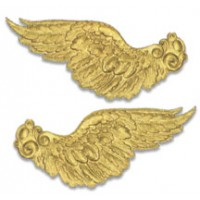 Extra Large Gold Dresden Foil Wings ~ 2 pair