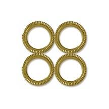 Gold Dresden Foil Circular Frames ~ 12