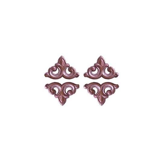Pink Dresden Foil Fleur-de-lis Swirl ~ 24