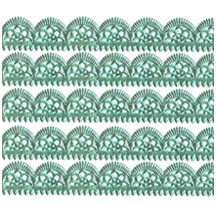 "Aqua Dresden Scalloped Trim ~ 1/2"" wide"