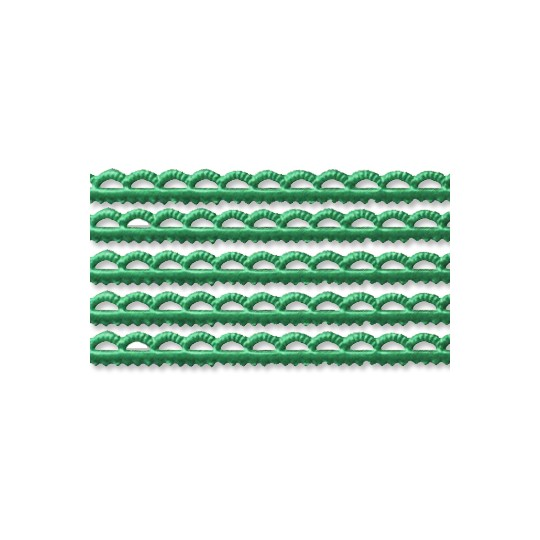 Green Scalloped Petite Dresden Foil Trim ~ 3/16""