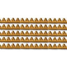 """Antique Gold Petite Pennant Dresden Foil Trim ~ 1/8"""""""