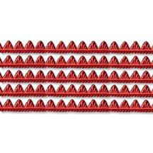 "Red Petite Pennant Dresden Foil Trim ~ 1/8"""