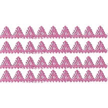 "Pink Dresden Pennant Point Trim ~ 1/4"" wide"