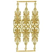 Gold Dresden Foil Embellishments ~ 3