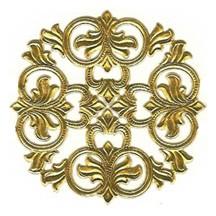 Gold Dresden Foil Medallions ~ 3