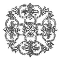 Silver Dresden Foil Medallions ~ 3