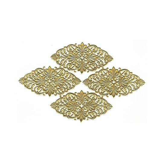 Gold Dresden Foil Flourishes ~ 4