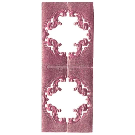 Pink Dresden Foil Fancy Frames ~ 2