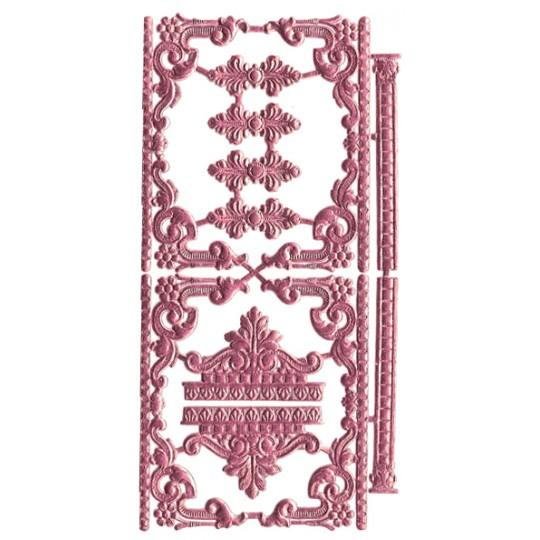 Pink Dresden Foil Fancy Embellishments