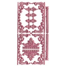 Pink Dresden Foil Fancy Embellishments