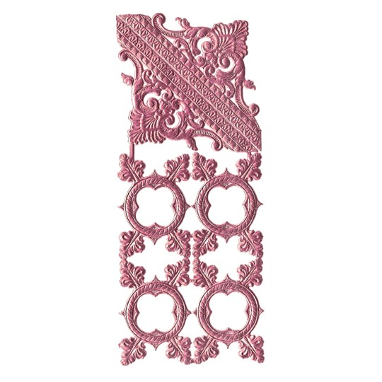Pink Dresden Foil Fancy Frames & Corners