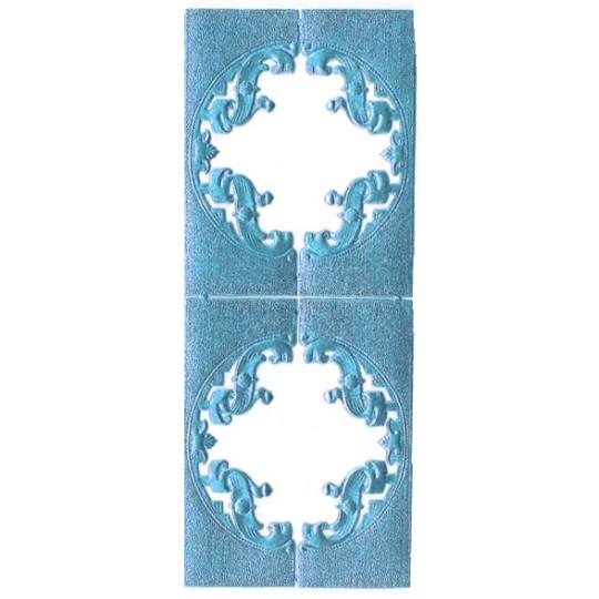 Steel Blue Dresden Foil Fancy Frames ~ 2