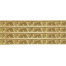 """Antique Gold Flower & Leaf Dresden Foil Trim ~ 3/16"""""""