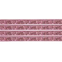 """Pink Flower & Leaf Dresden Foil Trim ~ 3/16"""""""