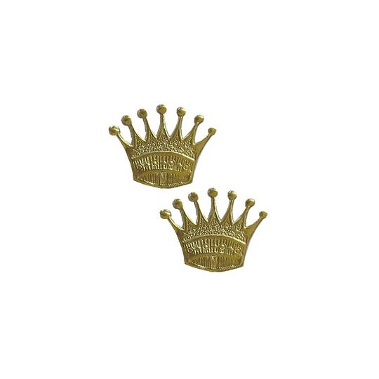 Gold Dresden Foil Crowns ~ 10