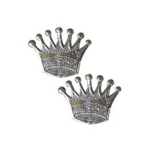 Silver Dresden Foil Crowns ~ 10