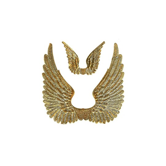 Gold Dresden Foil Swan Wings ~ 8