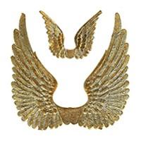 Gold Dresden Foil Swan Wings ~ 8