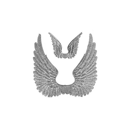 Silver Dresden Foil Swan Wings ~ 8