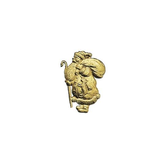 Gold Dresden Foil Santas ~ 6