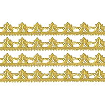 "Gold Dresden Scrolled Point Trim ~ 5/16"" wide"