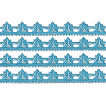 "Light Blue Dresden Scrolled Point Trim ~ 5/16"" wide"