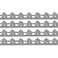 """Silver Dresden Scrolled Point Trim ~ 5/16"""" wide"""