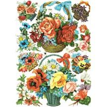 Vintage EAS Flower Basket Scraps ~ Western Germany