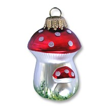 Blown Glass Double Mushroom ~ Germany