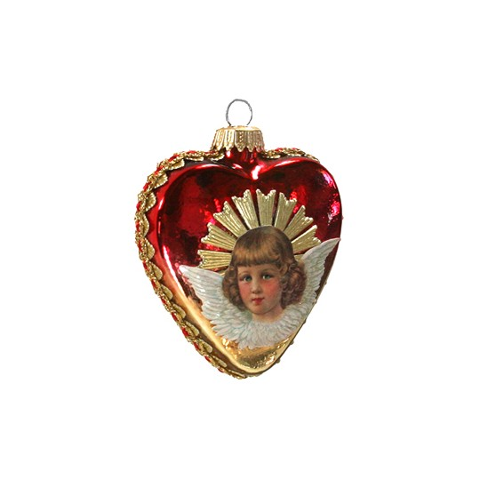 Fancy Ombre Angel Heart Ornament