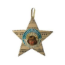 Fancy Paper Angel Star Ornament