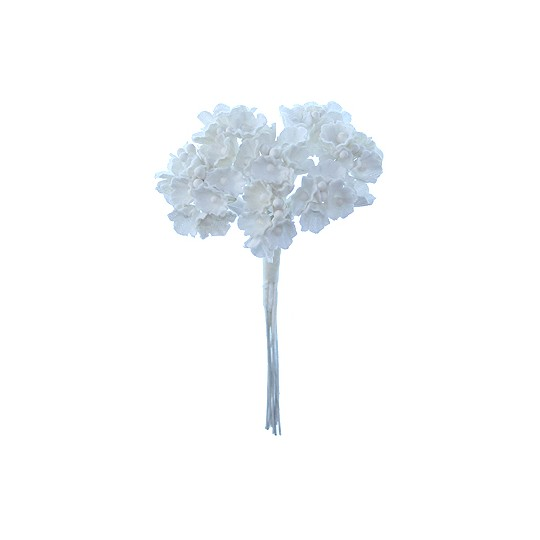 1 Bouquet of Paper Forget Me Nots in All White