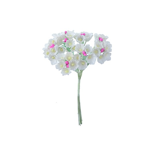 1 Bouquet of Paper Forget Me Nots in White