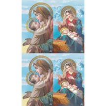 Madonna Gold Stamped Prayer Cards ~ Italy