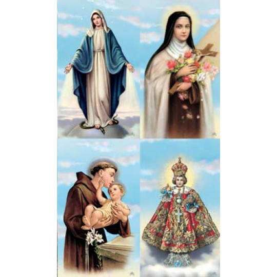 Asst. Santos Lithographed Prayer Cards ~ Italy
