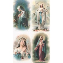 Queen of Heaven Lithographed Prayer Cards ~ Italy