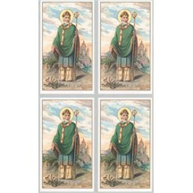 St. Patrick Lithographed Prayer Card ~ Italy