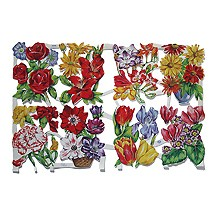 Vintage MLP Springtime Florals Scraps ~ England