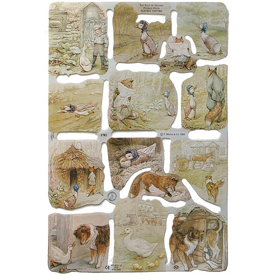 Beatrix Potter Tale of Jemima Puddle-Duck Scraps ~ England