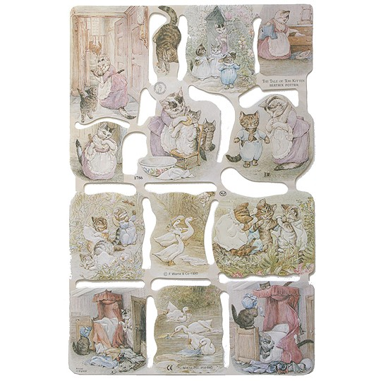 Beatrix Potter Tale of Tom Kitten Scraps ~ England