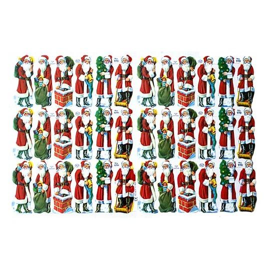 Small Santa Scraps ~ England