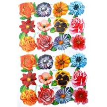 Colorful Flower Scraps ~ England