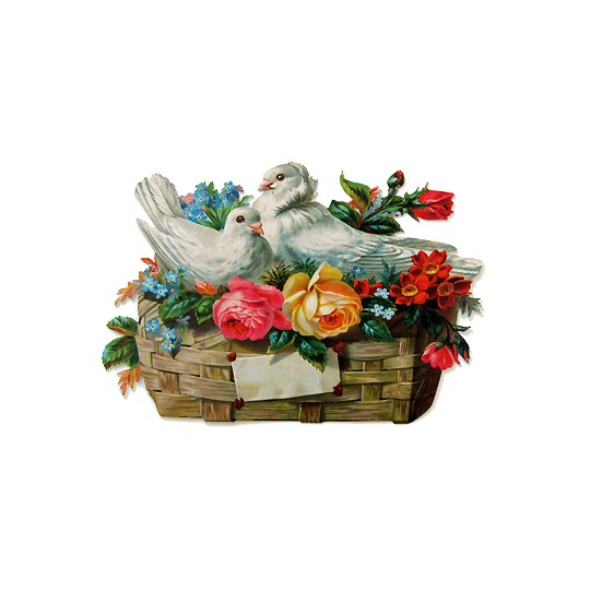 Large Dove & Roses Scrap ~ Germany