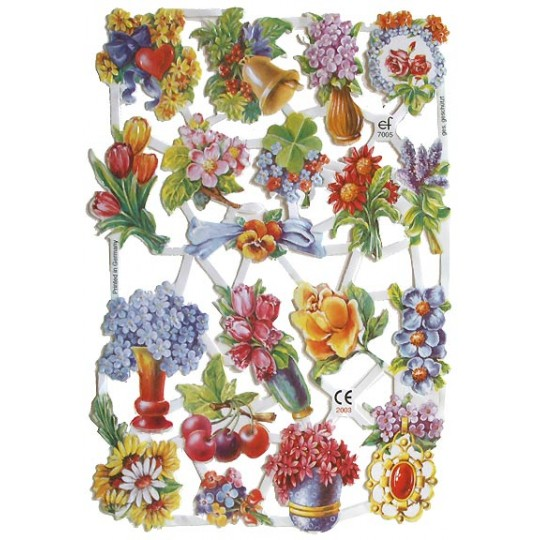 Pretty Old Fashioned Florals Scraps ~ Germany